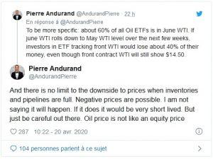 - twet 300x225 - Le prix du baril de pétrole négatif aux Etats-Unis pour la première fois de l'histoire